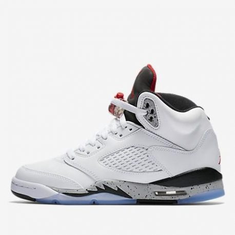 Air Jordan Nike AJ 5 V Retro White Cement 2017 (136027-104)