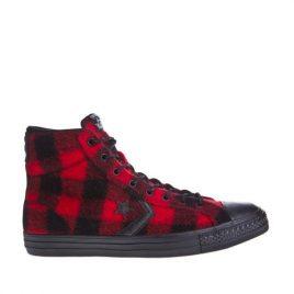 Converse Star Player Woolrich Hi Black/Red (153881C-black-red)