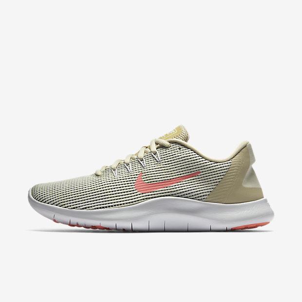 1f5457ba8df50 Details about Nike Womens Flex 2018 RN Summer Fossil/Crimson Pulse/White  AO2676-200 Size 10.5