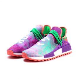 Adidas adidas x Pharrell Williams PW NMD Human Race HU Holi Chalk Coral/Lab Purple (AC7034)