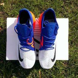 Обзор Nike Air Max 270 Flyknit (White/Racer Blue/Total Crimson)