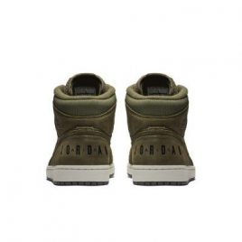 Air Jordan Nike AJ I 1 Mid Olive Canvas (2018) (BQ6579-300)