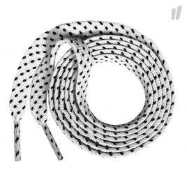 Tube Laces Rope Flat (FlatWhiteBlack)