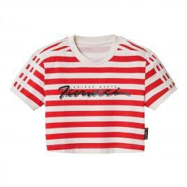 Fiorucci x adidas Wmns Stripe Crop Tee (ED0505)