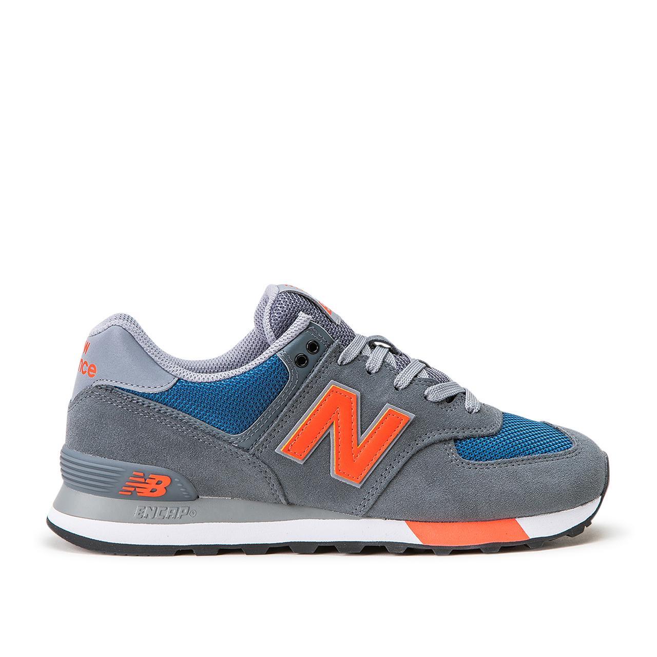 pretty nice 843c3 1fa86 New Balance ML574 NFO (Grau / Blau / Rot) (738191-60-12)