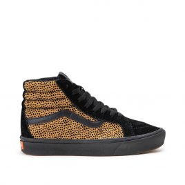Vans UA Comfycush Sk8-Hi «Tiny Cheetah» (Schwarz / Braun) (VN0A3WMCVWS1)