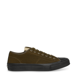 Visvim Skagway Low Dogi Olive  (Included in Visvim latest collection, the Skagway Low Dogi Sneakers feature canvas and leather upper, woven label at tongue, leather lining, and rubber outsole. Canvas and Leather Upper Woven Label at Tongue Leather Lining Extra Pair of Laces Rubber Outsole)