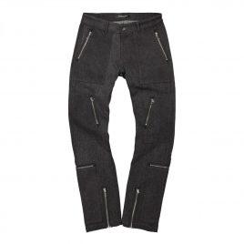 Midnight Studios Denim Cargo Slim Fit Jeans ( MS-04A-07-001 / Black )