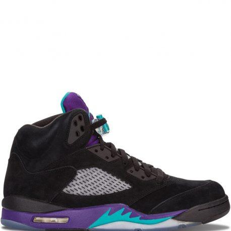 Air Jordan Nike AJ V 5 Retro Black Grape (2013) (136027-007)