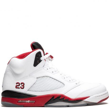 Air Jordan Nike AJ 5 V Retro Fire Red Black Tongue (2013) (136027-120)