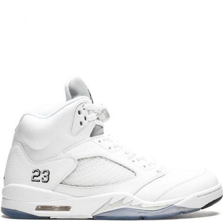 Air Jordan Nike AJ V 5 Retro 'Metallic White' (2015) (136027-130)