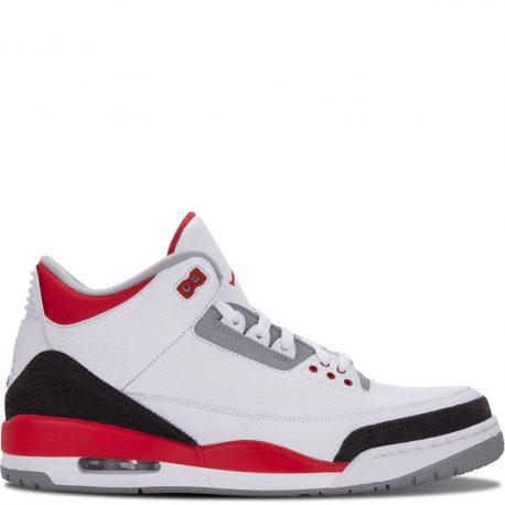 Air Jordan Nike AJ 3 III Retro Fire Red (2013) (136064-120)