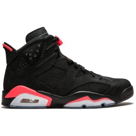 Air Jordan Nike AJ 6 VI Retro Infrared Black (JUMPMAN) (2014) (384664-023)