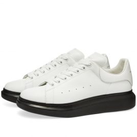 Alexander McQueen Contrast Wedge Sole Sneaker (553680WHTQ4-9061)