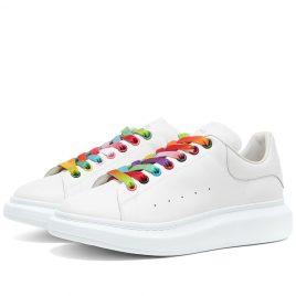 Alexander McQueen Multi Colour Eyelet Wedge Sole Sneaker (553680WHX9P-9035)