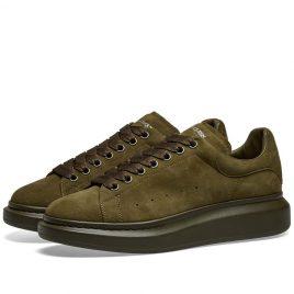 Alexander McQueen Tonal Suede Wedge Sole Sneaker (553761WHV67-3249)