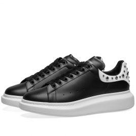 Alexander McQueen Studded Wedge Sole Sneaker (553776WHGP5-1070)