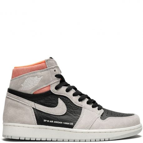 Air Jordan Nike AJ I 1 High Retro 'Neutral Grey Hyper Crimson' (2019) (555088-018)