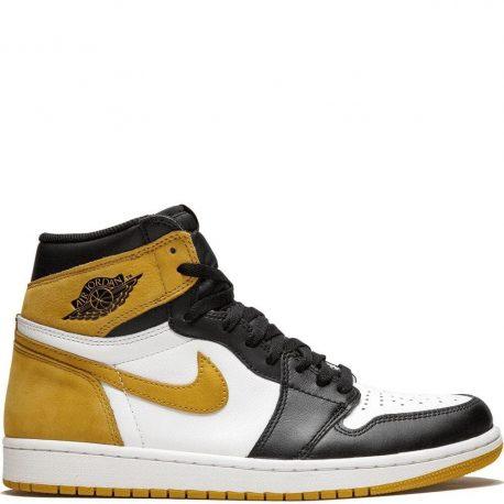 """Air Jordan 1 Retro High OG Yellow Ochre """"6 Rings"""" (2018) (555088-109)"""