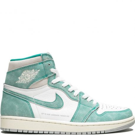 Air Jordan Nike AJ I 1 Retro High OG 'Flight Nostalgia' Turbo Green (2019) (555088-311)