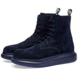 Alexander McQueen Suede Wedge Sole Boot (586191WHXK1-4100)