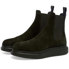 Alexander McQueen Suede Chelsea Wedge Sole Boot (586198WHXK2-3222)