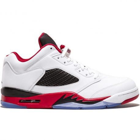 Air Jordan Nike AJ 5 V Retro Low Fire Red (819171-101)