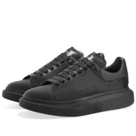 Alexander McQueen Flock Toe Tonal Wedge Sole Sneaker (575415WHWM1-1427)