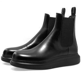 Alexander McQueen Wedge Sole Hybrid Chelsea Boot (586198WHX52-1000)