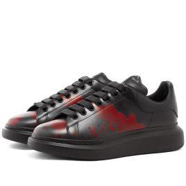 Alexander McQueen Paint Wedge Sole Sneaker (610796WHX9L-1282)