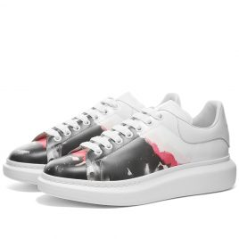 Alexander McQueen Paint Wedge Sole Sneaker (610796WHX9L-9056)