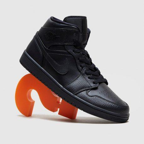 Air Jordan Nike AJ I 1 Mid Triple Black (2020) (554724-091)