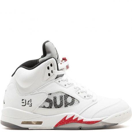 Air Jordan x Supreme Nike AJ V 5 Retro White (824371-101)
