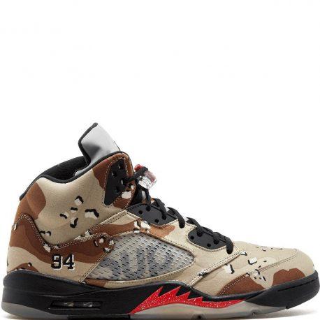 Air Jordan x Supreme Nike AJ V 5 Retro Desert Camo (824371-201)