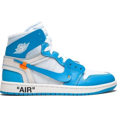 Air Jordan x Off White Nike AJ I 1 'Powder Blue' (UNC) (2018) (AQ0818-148)