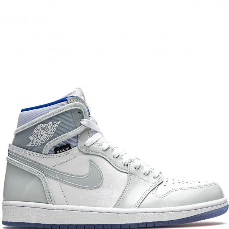 Air Jordan 1 Retro High Zoom White Racer Blue (2020) (CK6637-104)