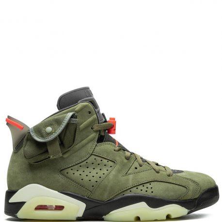 Air Jordan x Travis Scott Cactus Jack Nike AJ VI 6 'Medium Olive' (2019) (CN1084-200)