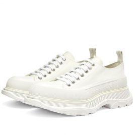 Alexander McQueen Tread Slick Canvas Low Top Sneaker (604257W4L32-9000)