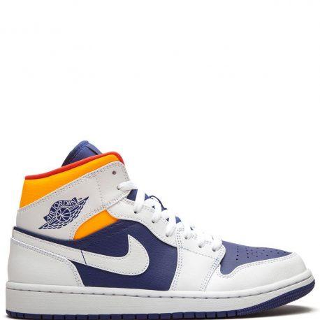 Air Jordan 1 Mid Royal Blue Laser Orange (2020) (554724-131)