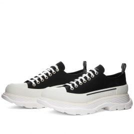 Alexander McQueen Tread Slick Canvas Low Top Sneaker (604257W4L32-1070)
