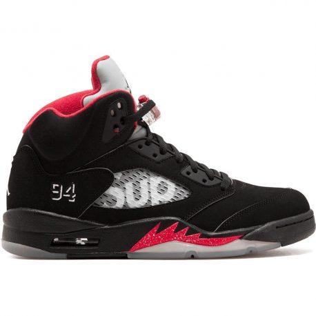 Air Jordan x Supreme Nike AJ V 5 Retro Black (824371-001)