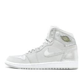 Air Jordan Nike AJ I 1 Retro Silver Anniversary (396009-001)