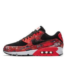 Nike x Atmos Air Max 90 'We Love Nike' Box Pack (Bright Crimson) (2018) (AQ0926-001)