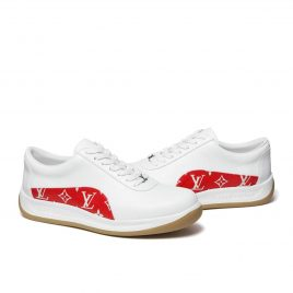 Louis Vuitton x Supreme Sport Monogram LV Sneaker White Red (FW17) (CL0167)