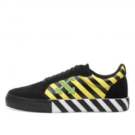Off-White Vulc Arrow Low Top Sneakers Black Yellow Green (2019) (OMIA085E19C210476040)