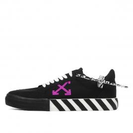 Off-White Vulc Low Black Purple (2020) (OMIA085E20FAB0011037)