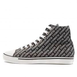 Vetements High Top Canvas All-Over Sneaker Black (2018) (VTCNV1)