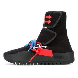 Off-White CST-001 Moto Wrap Sneakers Black (OMIA108F18B830011001)