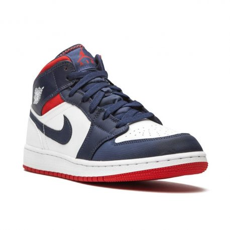 Air Jordan 1 Mid SE USA (GS) (2020) (BQ6931-104)