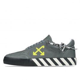 Off-White Vulc Low Top Sneaker Grey Green Fluo (2020) (OMIA085F20LEA0040970)